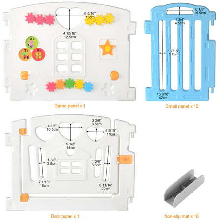 14 Panel Baby Playpen Kids Play Yard Activity Centre Safety for Home/Indoor/ Outdoor - image 6 of 10