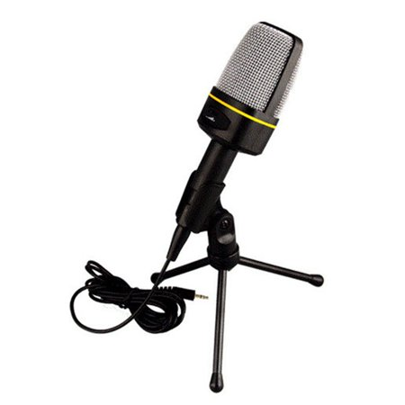 3 5MM Desktop Microphone with Tripod Anti-Interference Computer Microphone  Recording Microphone for Music Recording / Karaoke Singing / Audio Chat