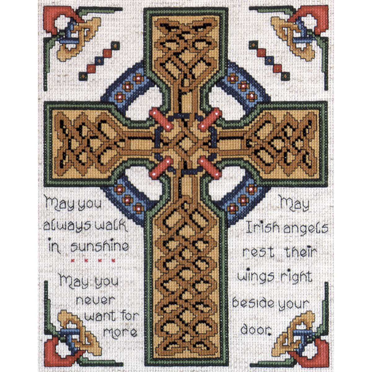 "Tobin Celtic Cross Counted Cross Stitch Kit, 8"" x 10"", 14 Count"
