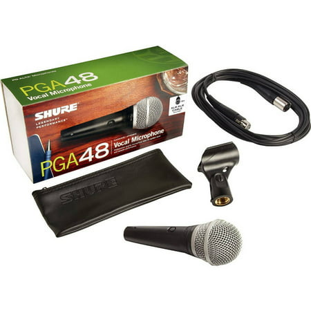 Shure PG Alta 48 Dynamic HH Cardioid Vocal Microphone w/ XLR Cable