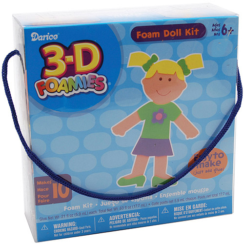Darice 3-D Foam Kit, Doll