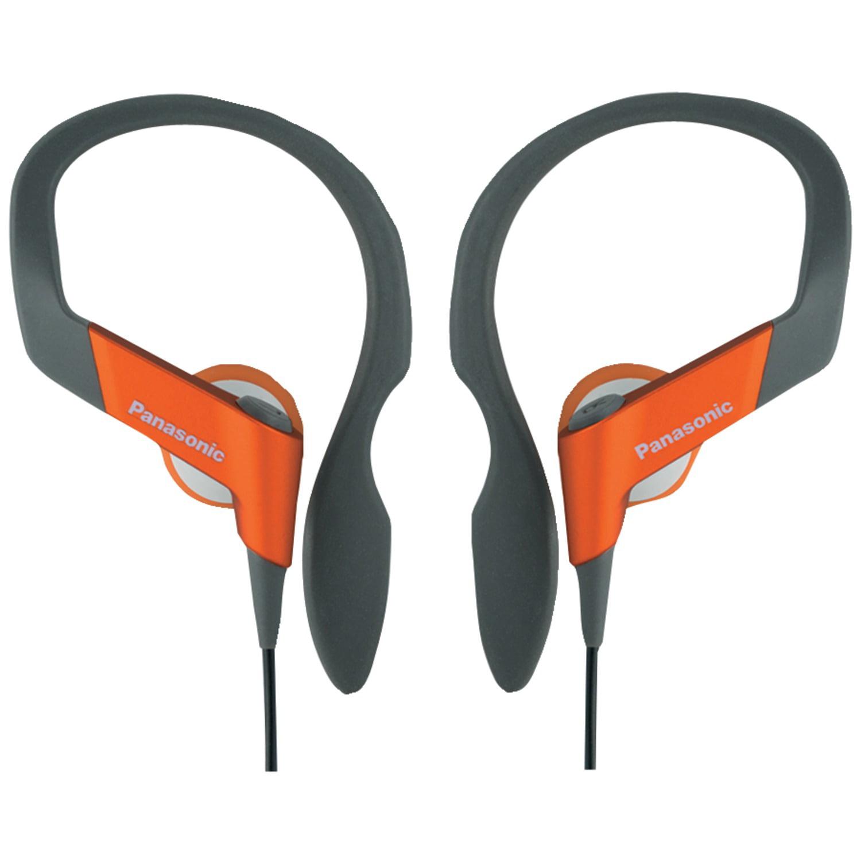 PANASONIC RP-HS33-D HS33 Shockwave(TM) Sport Clip Headphones (Orange)
