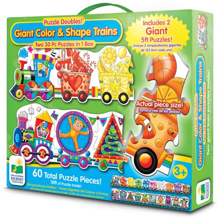 Puzzle Doubles Giant Colors and Shapes Train Floor Puzzles](Giant Floor Keyboard)