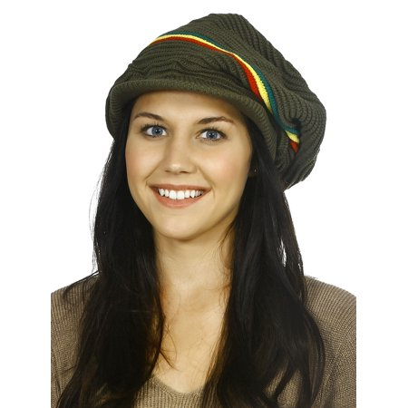 Rasta Fashion (Rasta Beanie Hat Fashion Women Winter Warm Baggy Slouch Beanie Hat)