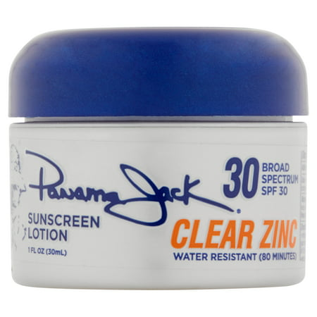 Panama Jack Clear Zinc Sunscreen Lotion, SPF 30, 1 fl oz