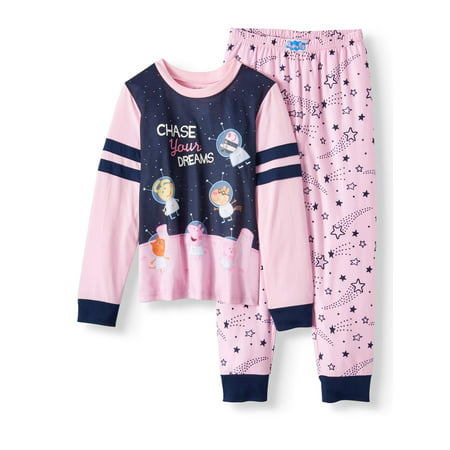 Peppa Pig Sporty Long Sleeve 2pc Sleep Set (Little Girls & Big Girls)