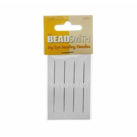 Beaded Needlepoint (Big Eye Needles Beading (Set Of 4) - Easiest Needle To Thread)