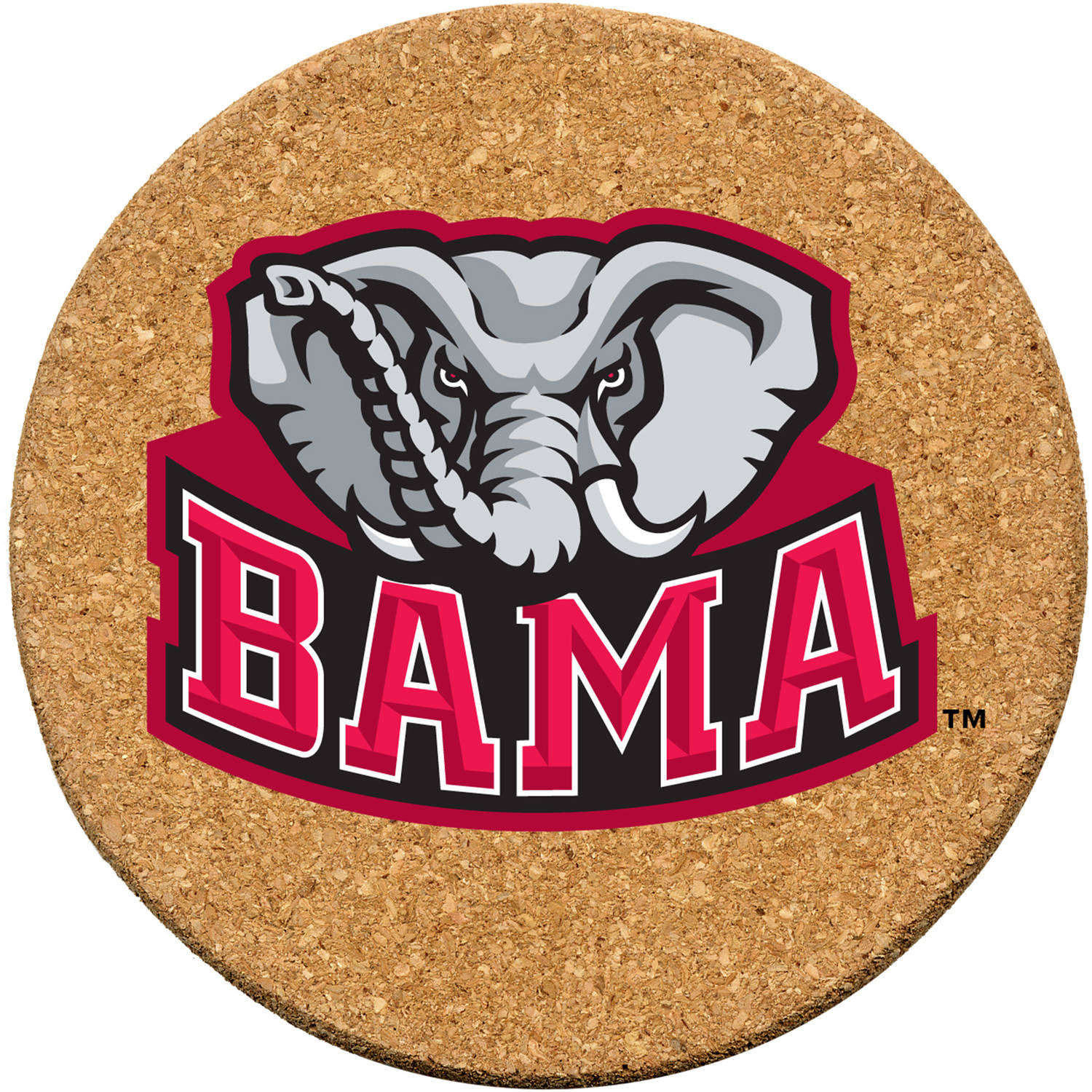Set of Six Cork Coasters, University of Alabama