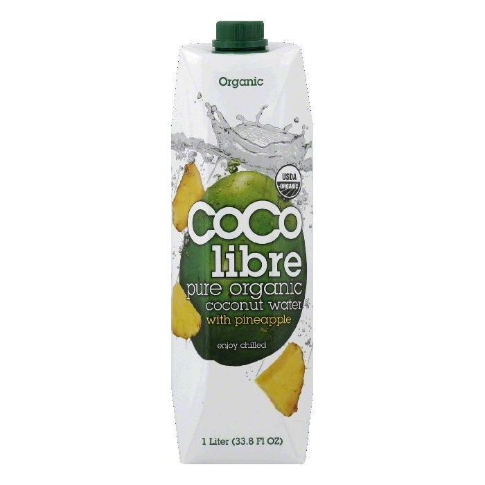 Coco Libre Pure Organic Coconut Water with Pineapple, 33....