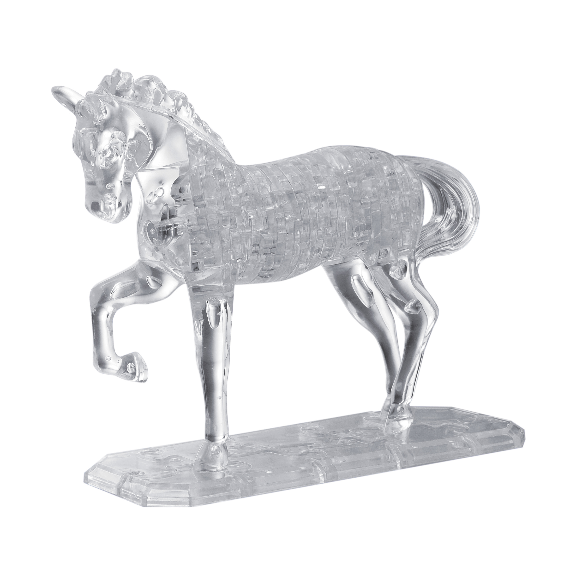 Deluxe 3D Crystal Puzzle - Horse (White), 98 Pcs