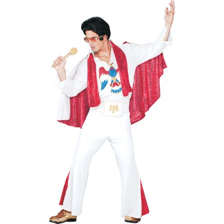 Morris Costumes Mens Elvis Deluxe Jumpsuit Adult Halloween (Elvis Deluxe Jumpsuit)