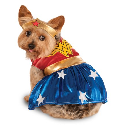Image of Rubies Costume Co. Wonder Woman Pet Halloween Costume