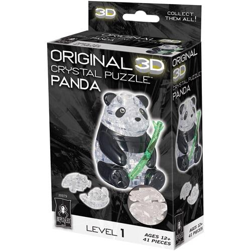 3D Crystal Puzzle, Panda: 41 Pieces