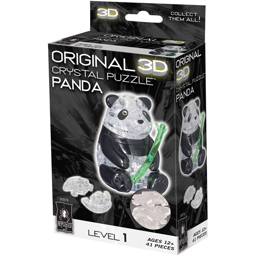 3D Crystal Puzzle, Panda: 41 Pieces