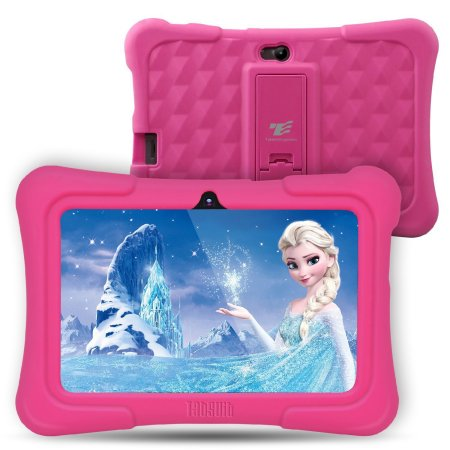 Dragon Touch Y88x Plus 7 inch Kids Tablets PC Quad Core 8G ROM Android 6.0 With Disney Content Dual Camera PAD Learning Tablets for Children/Toddlers-Pink