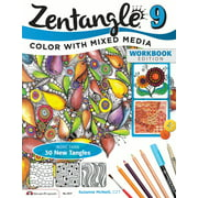 Design Originals Zentangle 9: Expanded Workbook Edition, Adding Beautiful Colors with Mixed Media