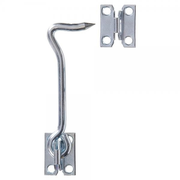 Galvanised Steel Hook on Plate Tie Down Staple Horse Wall Hook FREE P+P