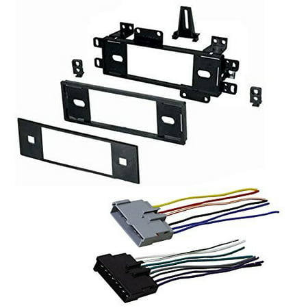 ford 1987 - 1991 econoline van car radio stereo radio kit dash installation mounting w/ wiring harness
