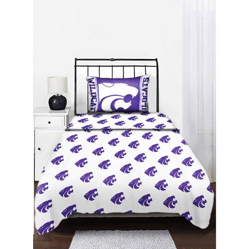 NCAA Mascot Bedding Sheet Set, Kansas State Wildcats