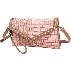 Croc Clutch (Sydney Love Clutch Dusty Rose Croc Vegan Leather Women's Handbag)