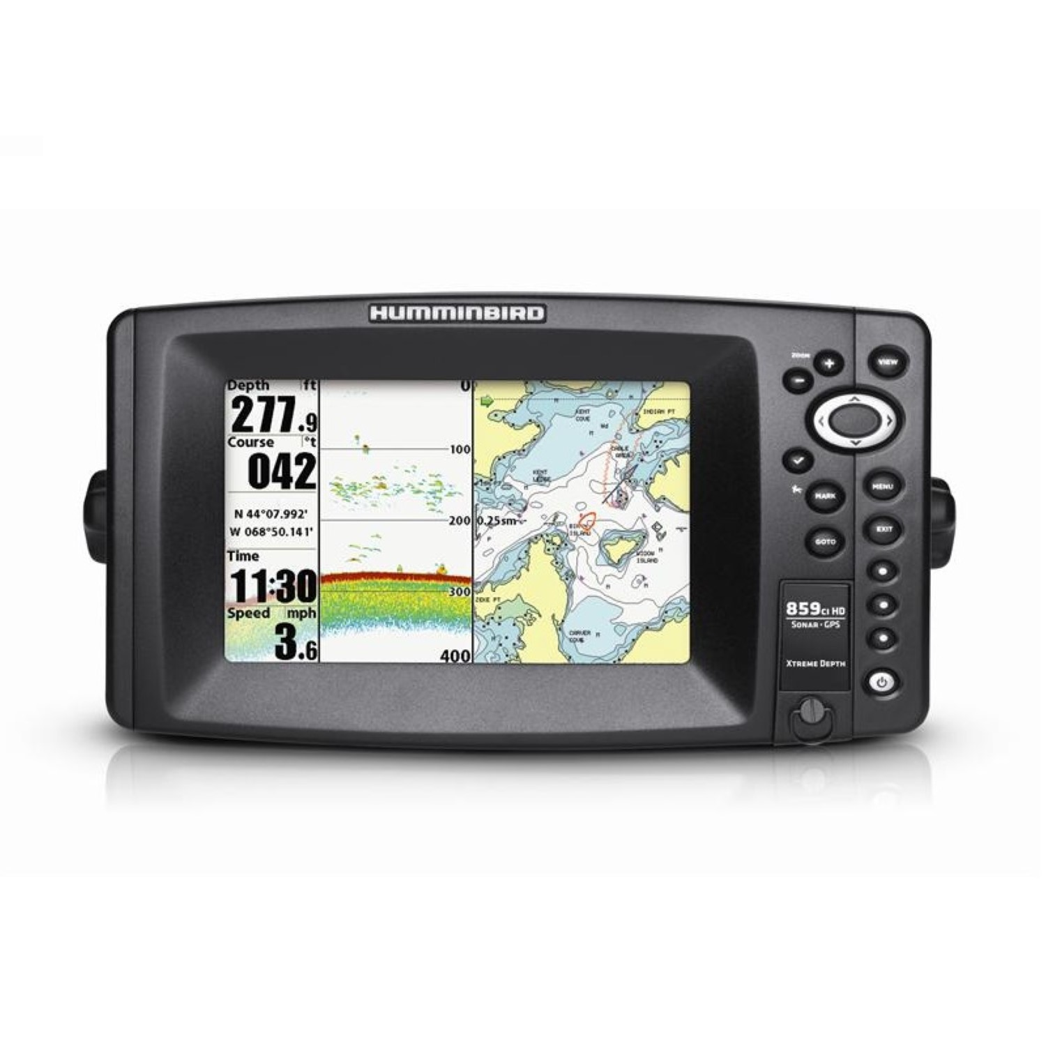"humminbird 859ci hd xd gps/sonar combo, 7"", 480 x 800 color, dual, Fish Finder"
