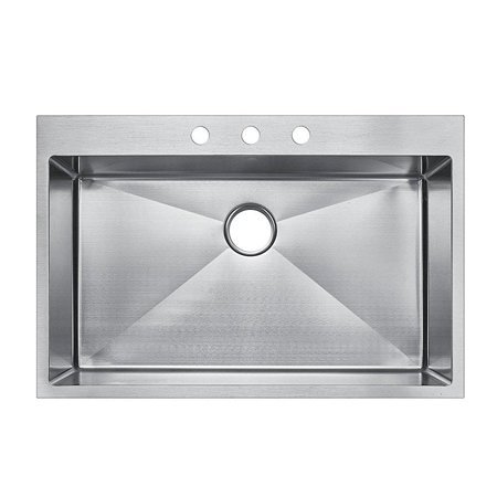 starstar 36 inch top-mount / drop in stainless steel single ...