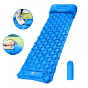 Taykoo Camping Sleeping Pad,Ultralight Inflatable Camping Mat for Outdoor SPorts with Air Pillow And Built In Pump
