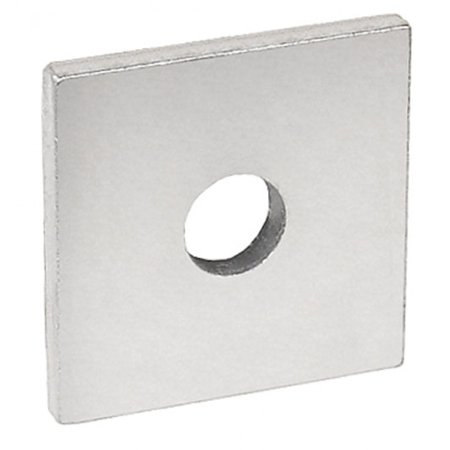 5 Pcs, 1-5/8 In. Square Strut Washer, for 3/8 In. Bolt, Zinc Plated Steel to Secure Strut Fittings & Channel w/Nuts