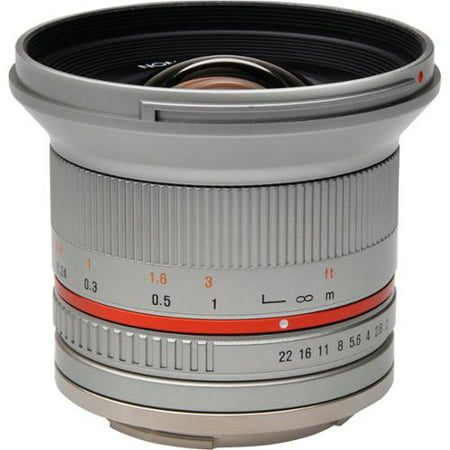 Rokinon RK12M-E-SIL 12mm F2.0 Ultra Wide Angle Fixed Lens for Sony E-mount (NEX) and for Other Cameras 12mm Lens Bullet Housing