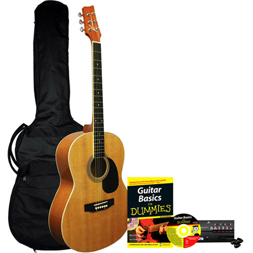 Acoustic Guitar for Dummies Bundle: Kona Acoustic Guitar, Accessories, Instructional Book & CD