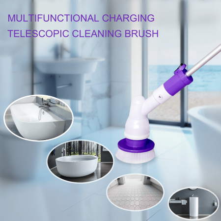 Electric Spin Scrubber Cordless Tub And Tile Scrubber With - Automatic bathroom scrubber
