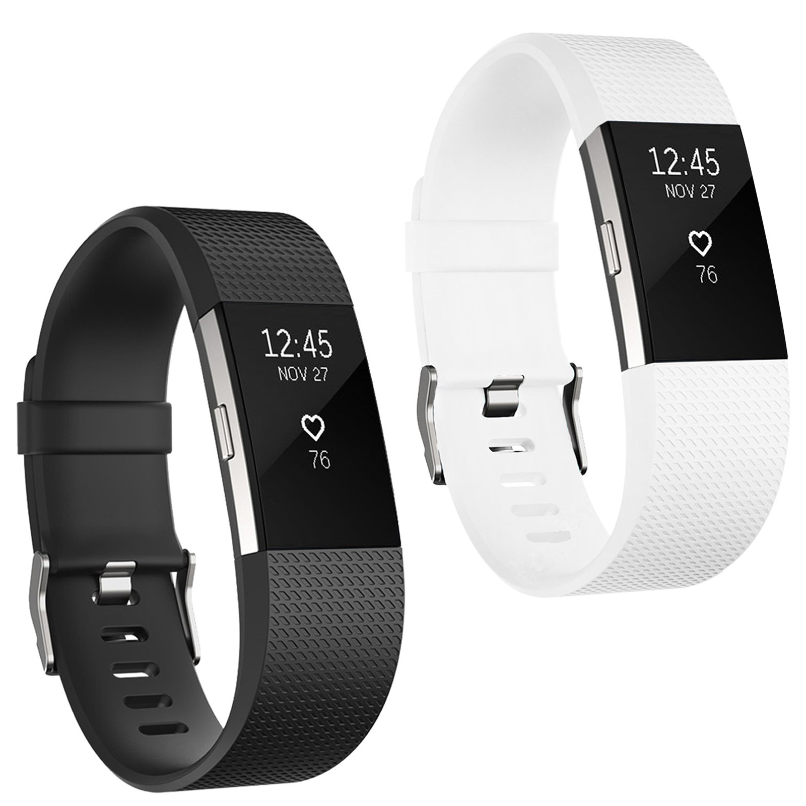 2 Packs Fitbit Charge 2 Bands, Adjustable Replacement Sport Strap Wristbands for Fitbit Charge 2