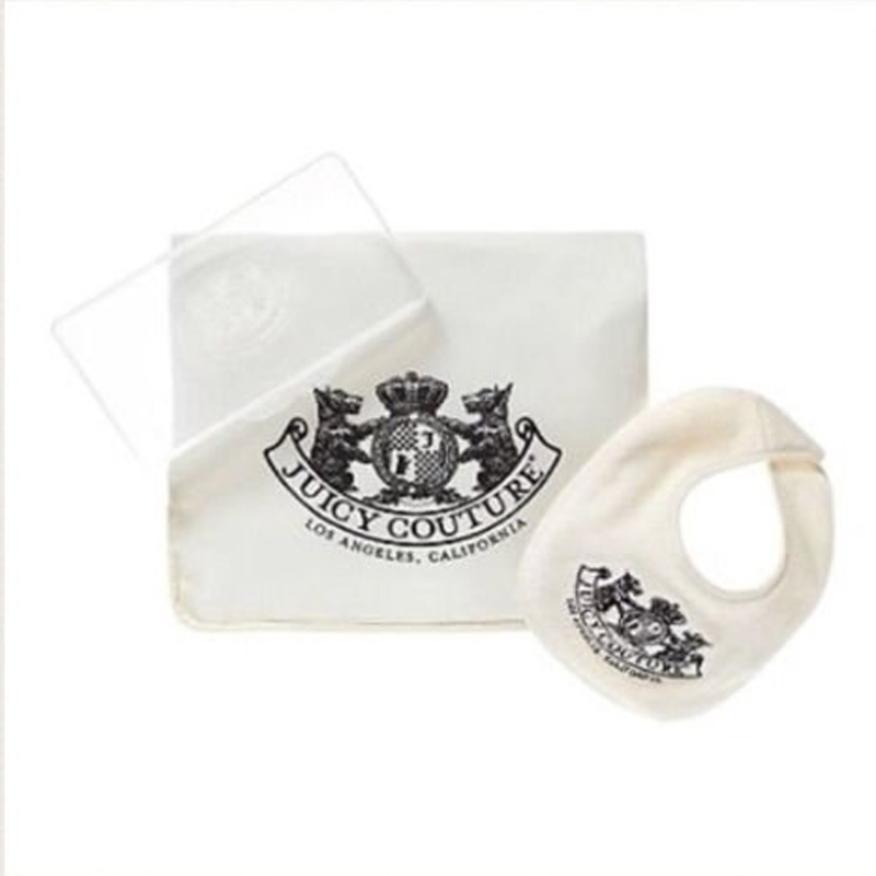 Juicy Couture Unisex Travel Diaper Set Bib, Changing Pad, & Wipes Case by Juicy Couture