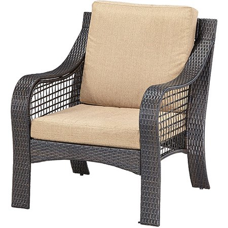 Home styles lanai breeze accent chair deep brown and gold for Affordable furniture 5700 south loop east