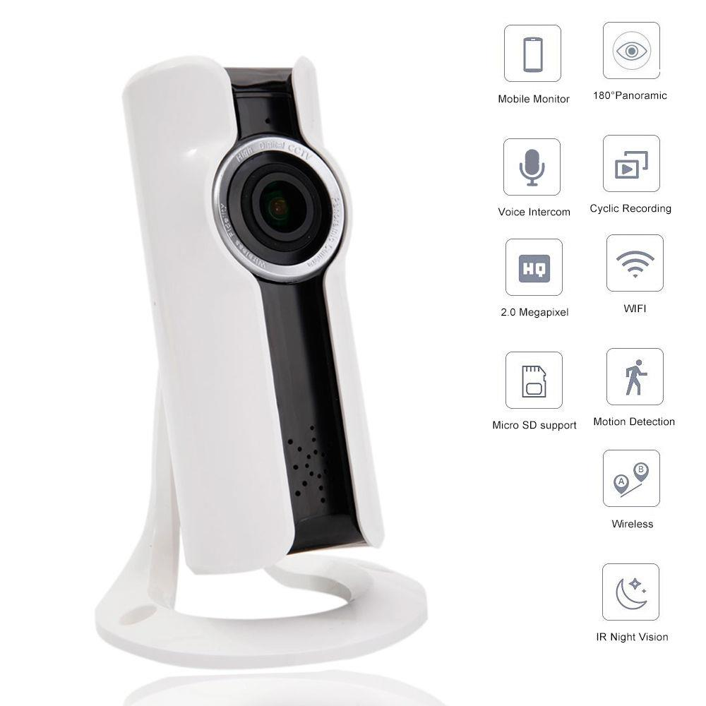 Ktaxon 1080P HD 180 Degree Fisheye P2P WiFi IP Camera Security Network Cam Night Vision
