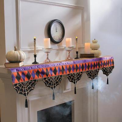 Spellbound Mantel Scarf Halloween Decor (Halloween Mantel Decor)