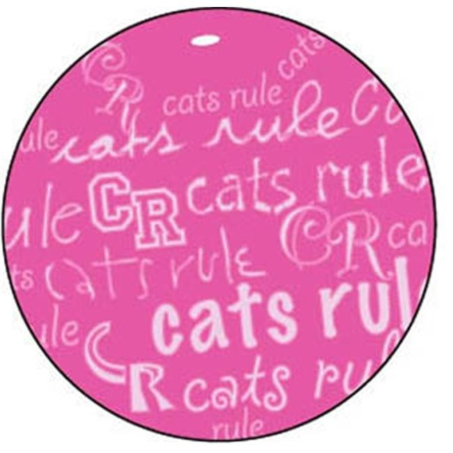 Cats Rule 00715 Catnip Toy Beach Ball Pink And White by Cats Rule