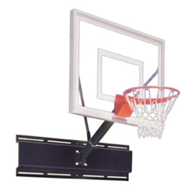 UniSport III Steel-Acrylic Wall Mounted Basketball System, Black