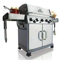 Broil King 923587 Gas Grill, 50000 BTU Main Burner Output, 10000 BTU Side Burner, 15000 BTU Rotisser
