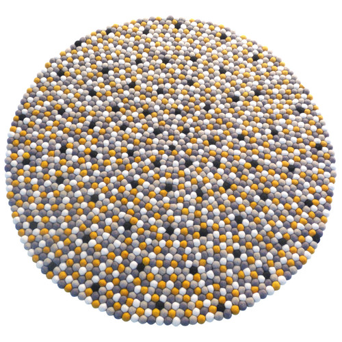 Walk On Me Happy as Larry Sunshine Felt Ball Kids Rug