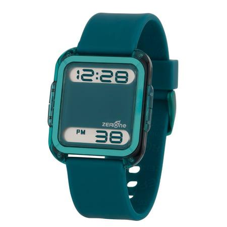 Zerone Bsquared 2 Ultra Slim Cyan Aluminum Bezel Digital Watch