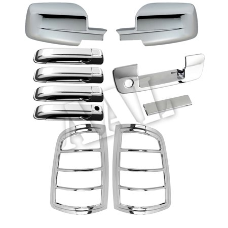 AAL Premium Chrome Cover Combo For MIRROR DOOR HANDLE TAILGATE tail lightS DODGE RAM 1500 2009 2010 2011 2012 2013 2014