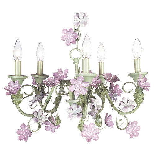 Jubilee Collection 5 Light Leaf and Flower Chandelier