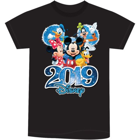 Disney Youth Unisex 2019 Dated Fabulous Group Mickey Minnie Donald Goofy Pluto (No Namedrop) X-Large Black Tee](Personalized Disney Shirts For The Family)