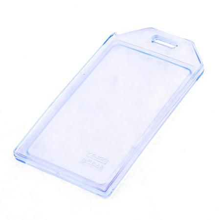 Unique Bargains Clear Blue Soft Plastic Working ID Badage Card Holder