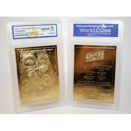 Star Wars EMPIRE STRIKES BACK Movie Poster 23KT Gold Card - Graded GEM MINT