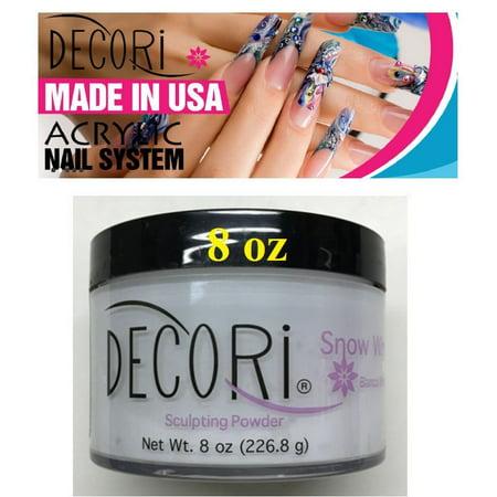 LWS LA Wholesale Store  8 oz Professional Acrylic Adoro decori SNOW WHITE Acrylic Powder like mia secret (Wholesale Art Supplies)