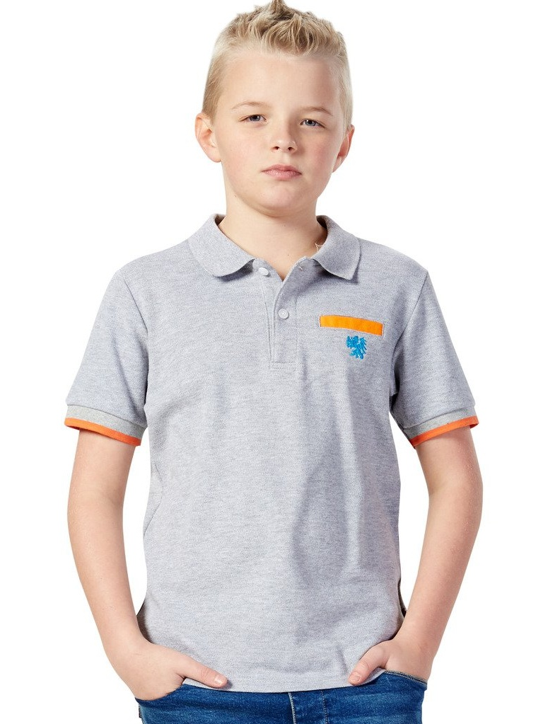 Leo&Lily Big Boys' Casual Sports Cardigan Polo Shirt Contrast color Short Sleeve