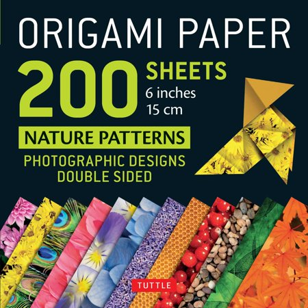 """Origami Paper 200 sheets Nature Patterns 6"""" (15 cm) : Tuttle Origami Paper: High-Quality Origami Sheets Printed with 12 Different Designs: Instructions for 8 Projects Included"""