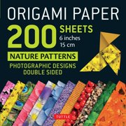 "Origami Paper 200 sheets Nature Patterns 6"" (15 cm) : Tuttle Origami Paper: High-Quality Origami Sheets Printed with 12 Different Designs: Instructions for 8 Projects Included"
